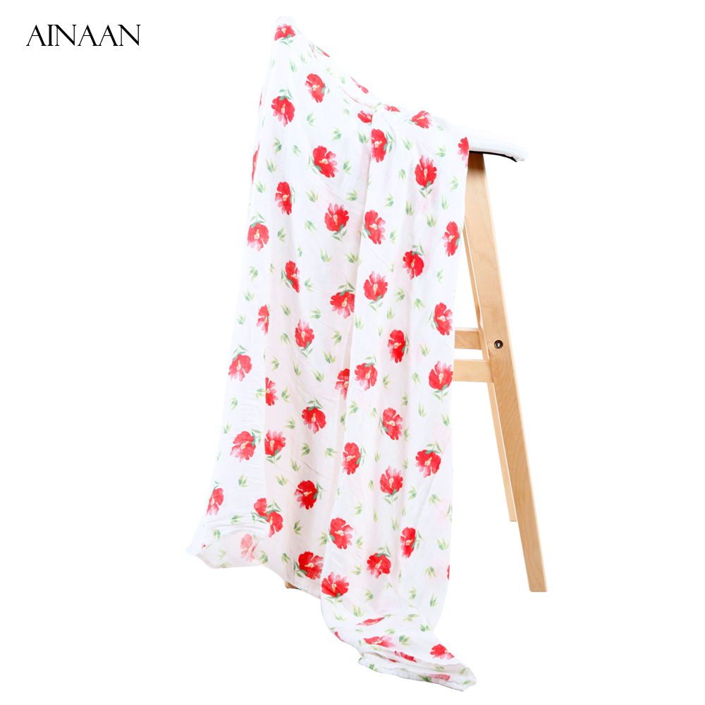 Ainaan Baby Blanket Cotton Bamboo Muslin Swaddle Wraps