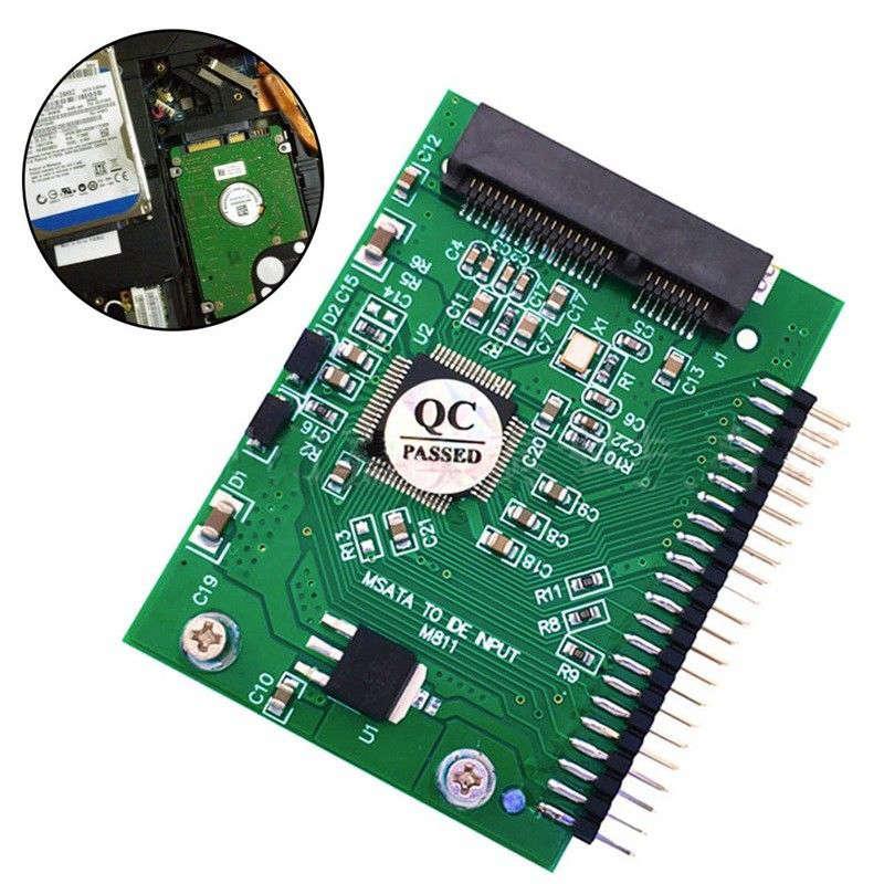 מקרנים ופלאזמות Msata SSD כדי 44 כפי ממיר מתאם פין אידה 2.5 אינץ IDE HDD 5 וולט עבור מחשב נייד (5)