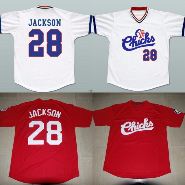 buy online a5023 6886e US $21.0 |Bo Jackson 28 Memphis Chicks Jersey Red White Stitched Throwback  shirts size extra small XS 4xl custom your name-in Baseball Jerseys from ...