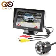 8LED CCD Waterproof Vehicle Camera Universal HD Car Rear View Back Up Reverse Parking Camera+4.3 Inch TFT LCD Car Monitor