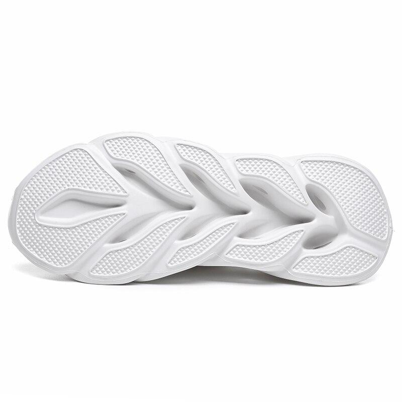 Распродажа Мужская обувь белого и черного цвета дышащая удобная спортивная обувь на плоской подошве прогулочная обувь - 4