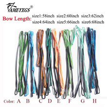 1pc Archery 16 Strands Bowstring 58-68inch Recurve Bow Traditional Longbow Replacement String Shooting Hunting Accessories