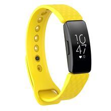 3D Doku Yumuşak Band Silikon Spor Bileklik saat kayışı 3D Doku Stereoskopik Görsel Efektler Için Fitbit Inspire