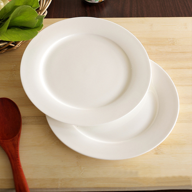 High-Grade Dinnerware Bone China Dinner Plate Rice Dish 8 Inch Flate Plate Private Home : home dinner plates - pezcame.com