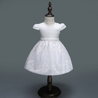 2018 New Baby Girl Clothes Princess Dress Clothes Short Sleeve Lace Bow Ball Gown Tutu Party