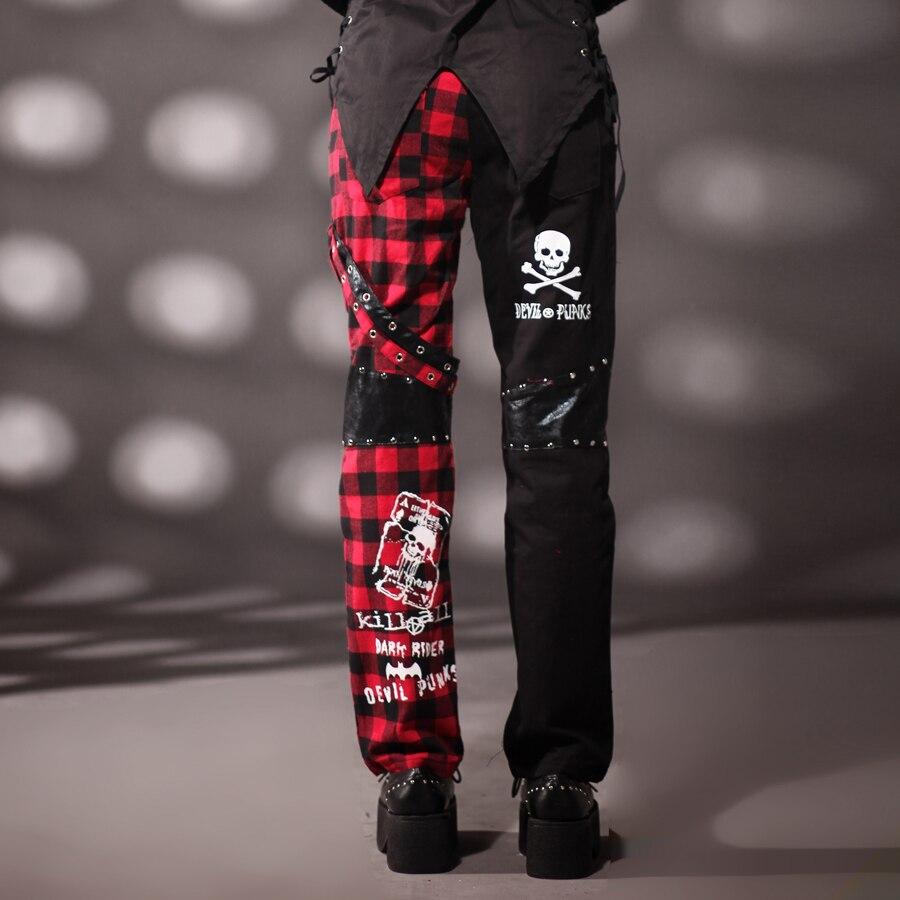 Personalidad De Pantalones Americano Cuadros Y Europeo Alfabeto Punk Ropa Cantante 2019 Rectos Trajes Hombres Nuevos Rock qRnH7w