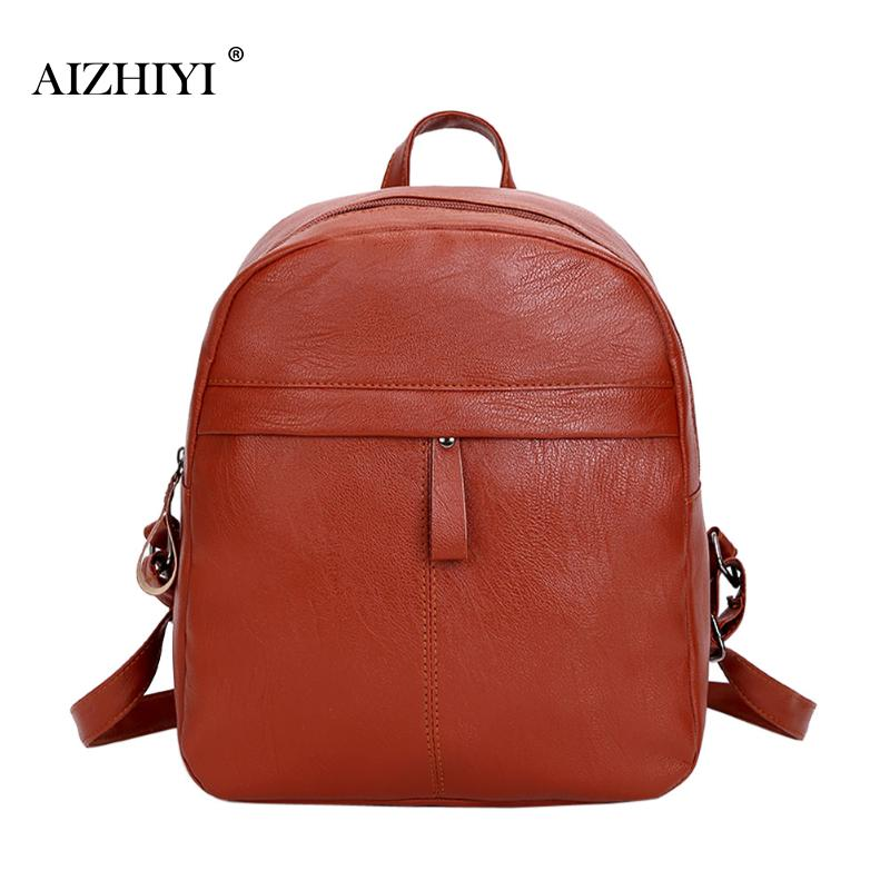 Women Soft PU Leather Shoulder Bag Pure Color Women Backpack College Student School Book Bag Leisure Anti-theft Backpack Girls women backpack shoulder bag women s bag students college wind bag pu leather backpack