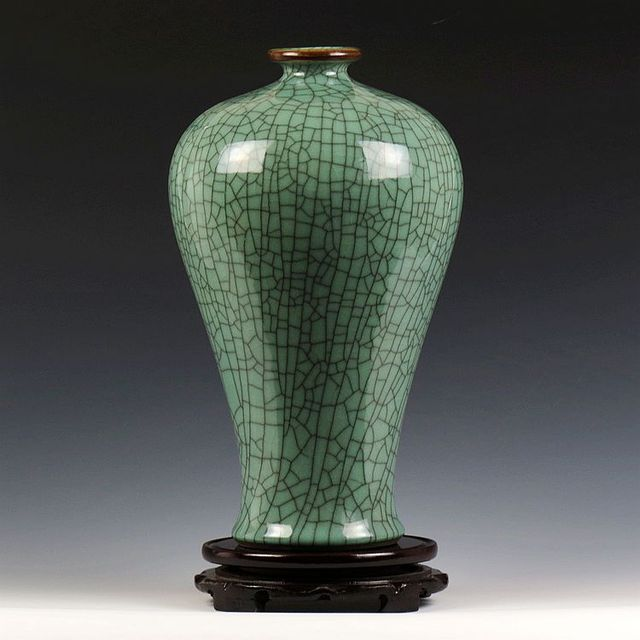 Lots Of Celadon Crackle Chinese Porcelain Vases For Table Lamp