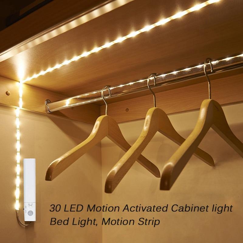 AGM Led-streifen Bewegungssensor Aktiviert LED Nachtlicht Wasserdichte Flexible Streifen Bed Lichter Neuheit Schrank Schrank Beleuchtung