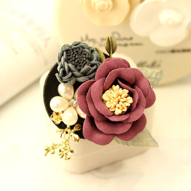 d7827447c i Remiel Camellia Brooch Korean Fabric Flower Pin Accessories Brooches  Cardigan Coat Fashion Cute Jewelry Women Broches Ladies-in Brooches from  Jewelry ...