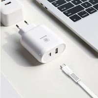 BASEUS Bojure Type C PD Port 32W + USB Fast Charge Wall Charger EU For Macbook /iPhone /Samsung Universal Cell Phone With Cable