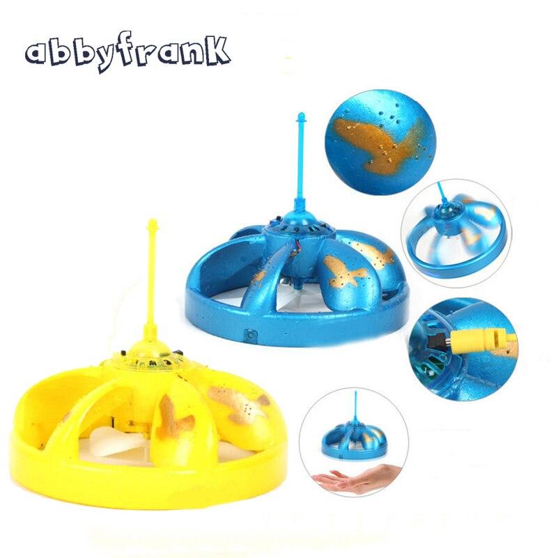 Abbyfrank eléctrica inducción suspensión UFO flotando vuelo flotante eléctrico OVNI con luz LED al aire libre Juguetes para Niños