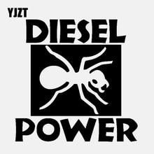 YJZT 15CM*15CM DIESEL POWER Funny Vinyl Decals Car Sticker Black/Silver C3-1024 yjzt 14cmx8 2cm lovely smooth haired dachshund dog high quality car sticker c1 9043