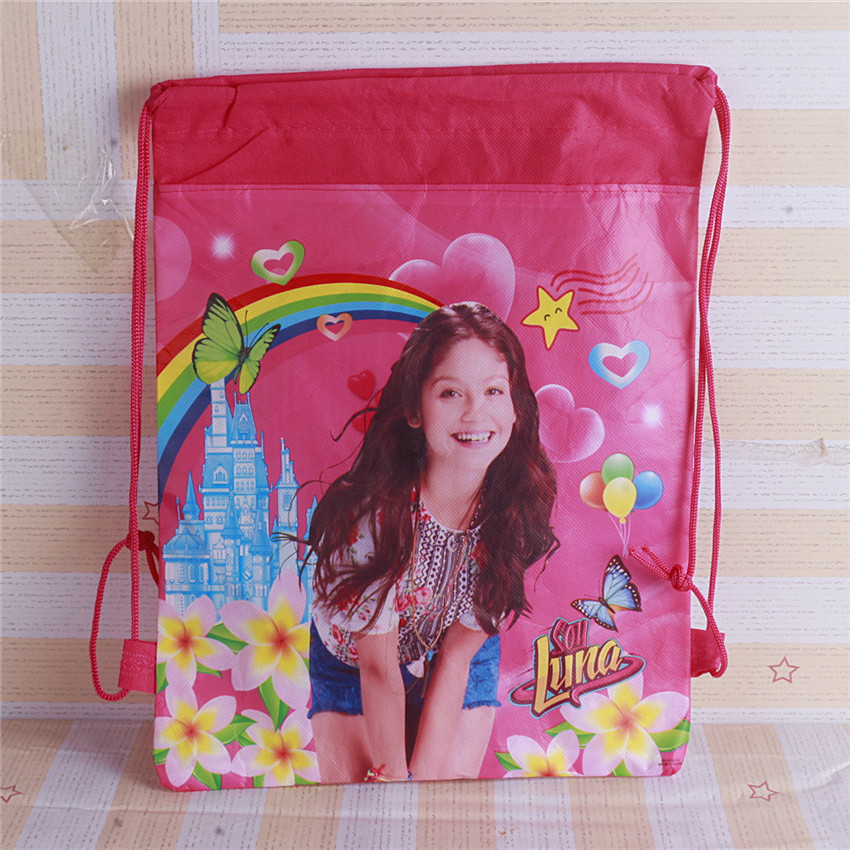 New 2 design non-woven fabrics of Luna, drawstring backpack, event & party gift bag, paws shopping bag