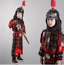 Childrens armor Cosplay performance armature costume Mulan adult general Chinese ancient corselet