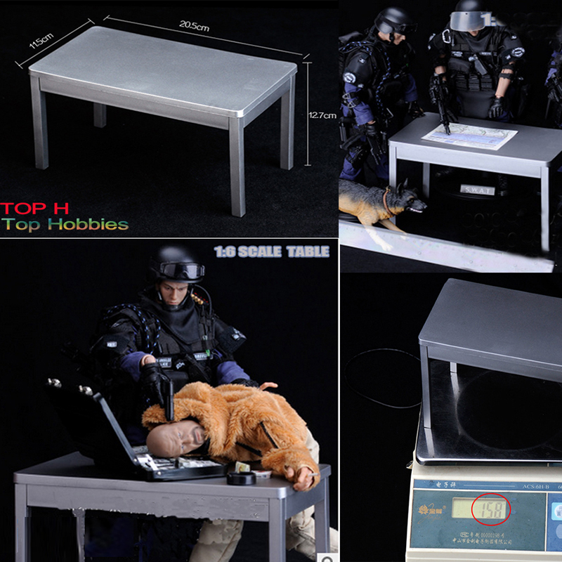 1/6 Scale Soldier Accessories Scene Metal Paint Square Table Model Fit 12 Inch phicen/HT Toys Doll action Figure use b06 08 1 6 scale male head accessories carving sculpt model fit 12 inch phicen action figure doll toys