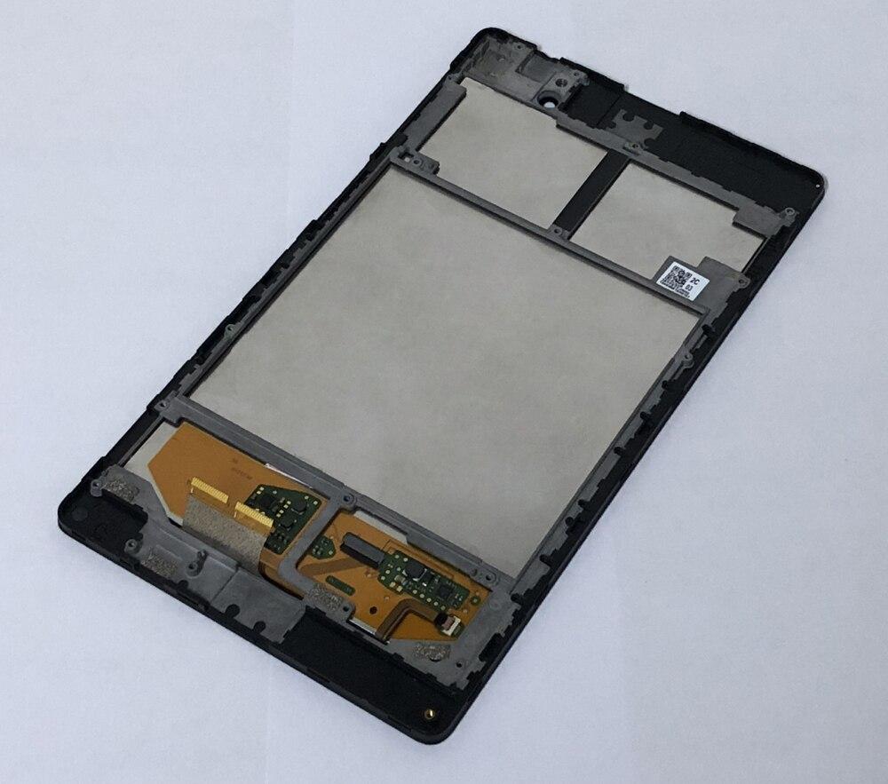 Noir Écran lcd Moniteur Panneau + Écran Tactile Digitizer Capteur En Verre Assemblée + Cadre Pour Asus Nexus 7 2nd ME572 ME572C ME572CL