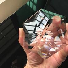 100 мм Стеклянная Хрустальная Люстра Подвеска для изготовления художественной шестигранной призмы Suncatcher подвесное украшение Fengshui Xms