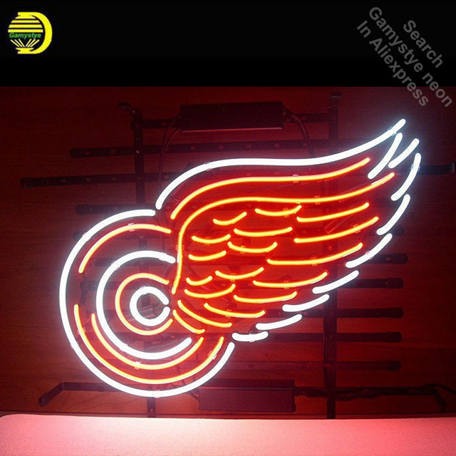 Wings Neon Sign Restaurant neon bulb Sign neon lights custom LOGO Sign glass Tube Handcraft Iconic Sign window Display light up