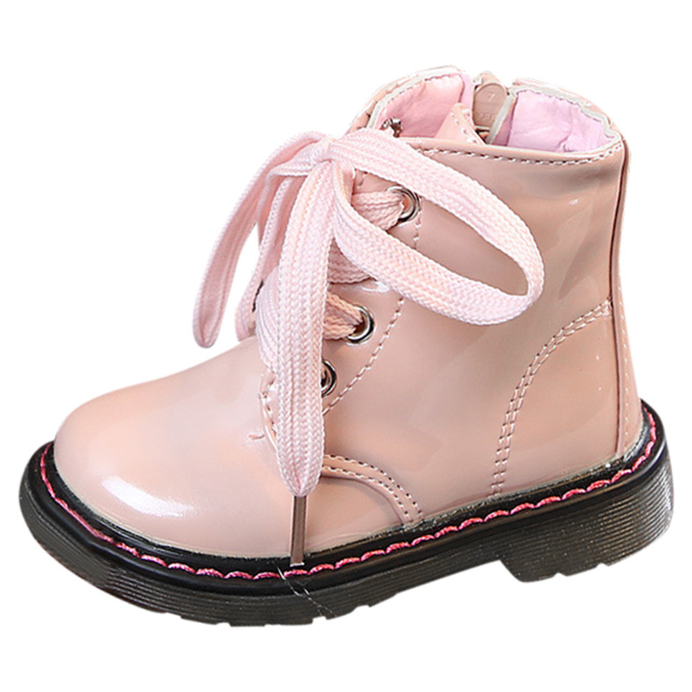 Shoe Toddler Baby-Girl Boot Autumn Boy KIDS Fashion Brand Black -9 Ankle Martin Children