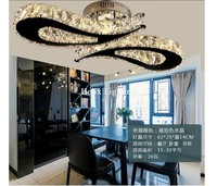 2017 Newly L620mm LED Crystal Ceiling Light For Living Room luminaria LED Ceiling Lamp Fixture For Bedroom AC 100% Guaranteed