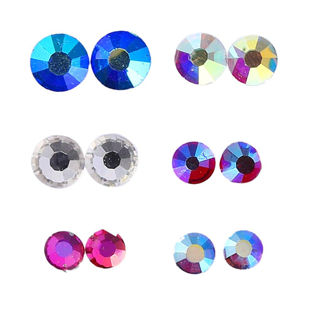 1440pcs SS6 8 10 Crystal Glass Non Hot Fix Rhinestones for Nails Nail Art DIY GUB# free shipping 1440pcs lot ss20 4 8 5 0mm high quality dmc pink light rose on rhinestones hot fix rhinestones