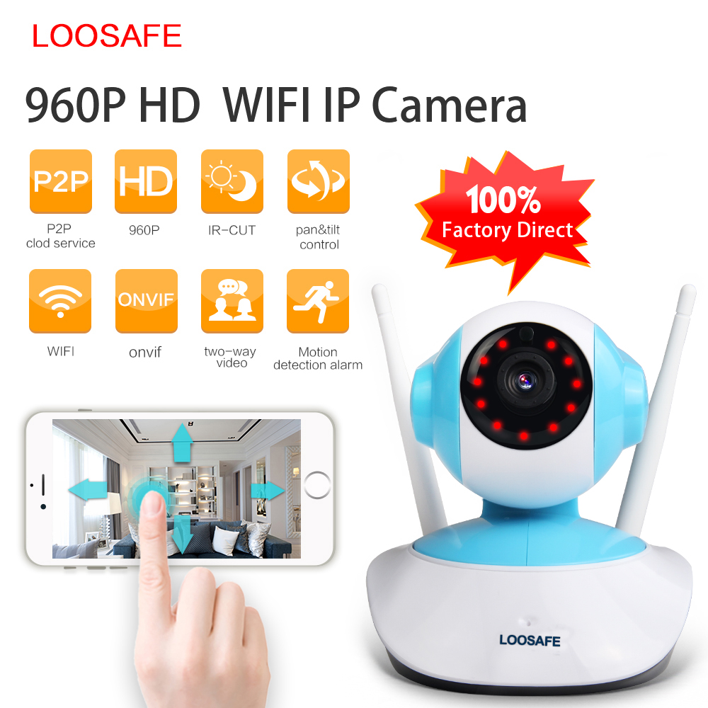 LOOSAFE 960P IP Camera WIFI Home Security Indoor Cam Surveillance System Onvif P2P Phone Remote Video Surveillance PTZ Camera jienuo ip camera 960p outdoor surveillance infrared cctv security system webcam waterproof video cam home p2p onvif 1280 960