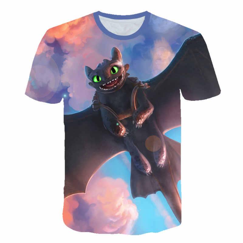 2019 Как приручить дракона 3d печать футболки для мужчин аниме беззубики футболки с героями мультфильмов крутая мечта работа Подростковая рубашка сувенир