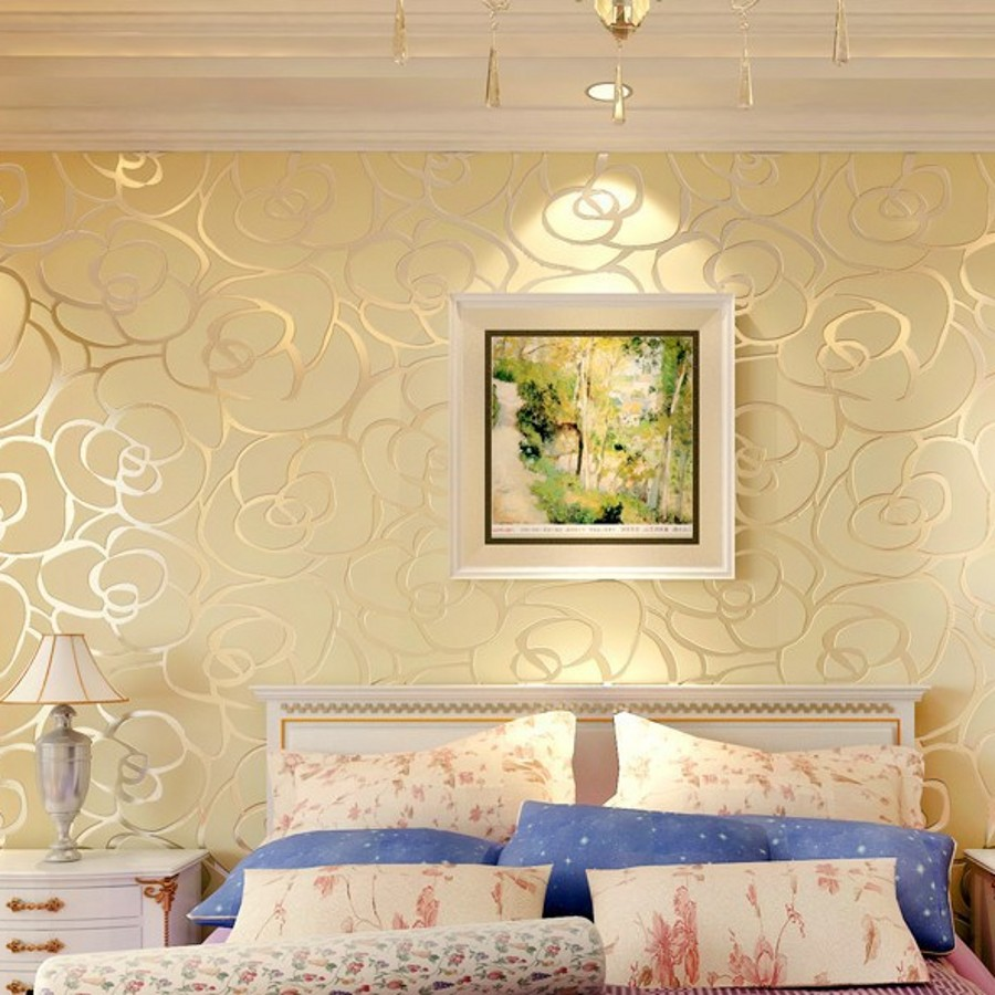 Beibehang home decor background wall modern wallpaper gold for Wallpaper home renovation