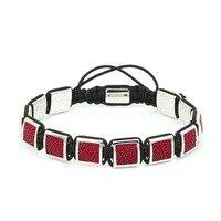 Anil Arjandas Adjustable Bracelets for Women Men Jewelry 2017 Genuine Stingray Leather Beads Square Charms Macrame Bracelets