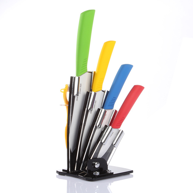 Lagute leChef 6 piece Lightweight Ceramic font b Knife b font Set Kitchen Cutlery Tool Multicolor