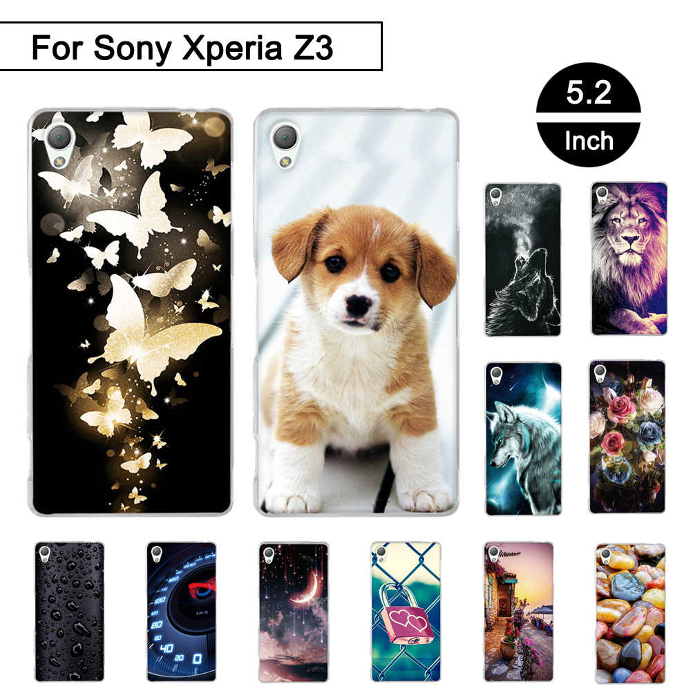 "Case Voor Sony Xperia Z3 D6603 D6643 D6653 D6616 5.2 ""Soft Silicone Back Phone Cover Voor Sony Xperia Z 3 schelpen Fundas TPU Coque"