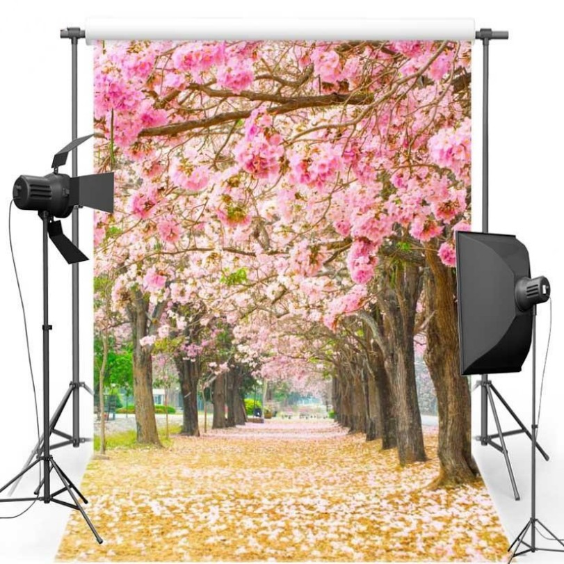 Pink Flower  Cherry Blossom Tree Themed backdrop Vinyl cloth High quality Computer print wall Backgrounds missha flower bouquet cherry blossom fresh cleansing oil объем 150 мл