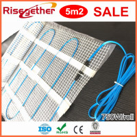 5M2 Electric Heating Floor Mat Cables In Sale For Underfloor Heating System Wholesale Floor Heating Mat Kits