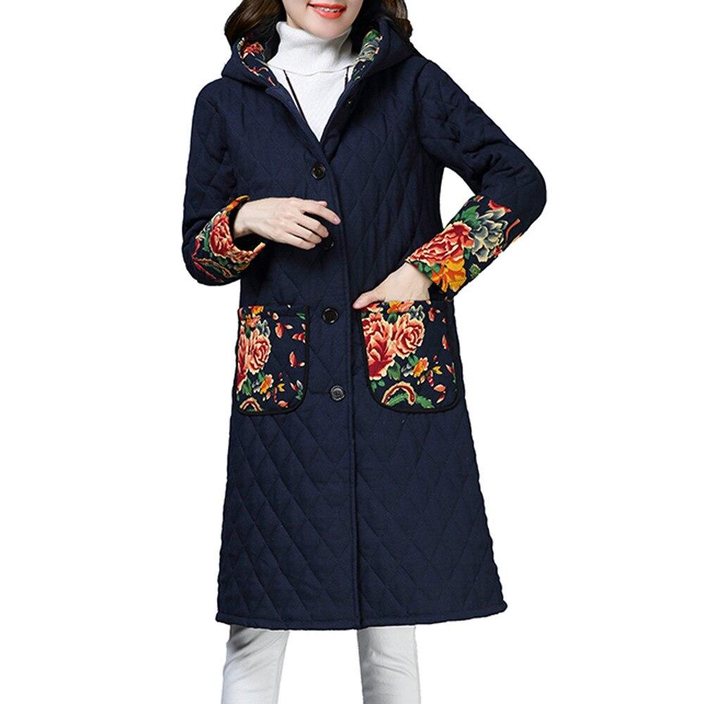 2019 Newly Women Plus Size Winter Coat Folk-Custom Cotton-Padded Jacket Long Puffer Parka 2018 New Arrival Free shippig 40pNo17
