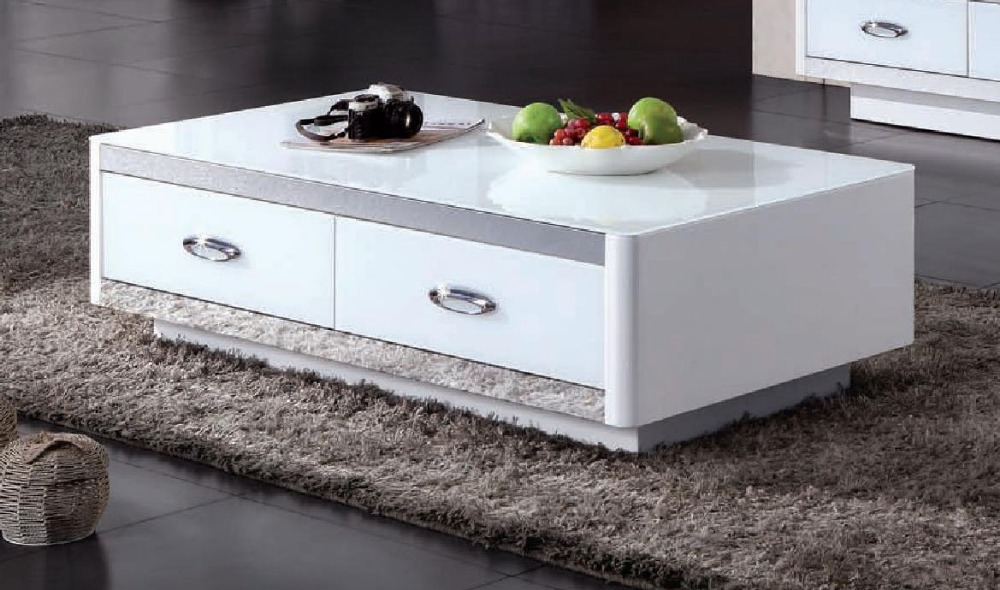 2016 Real Cam Sehpalar Modern Coffee Table Mesa Wooden No Muebles Led Bar Mirrored Furniture High Quality Particle Board 2 Tone