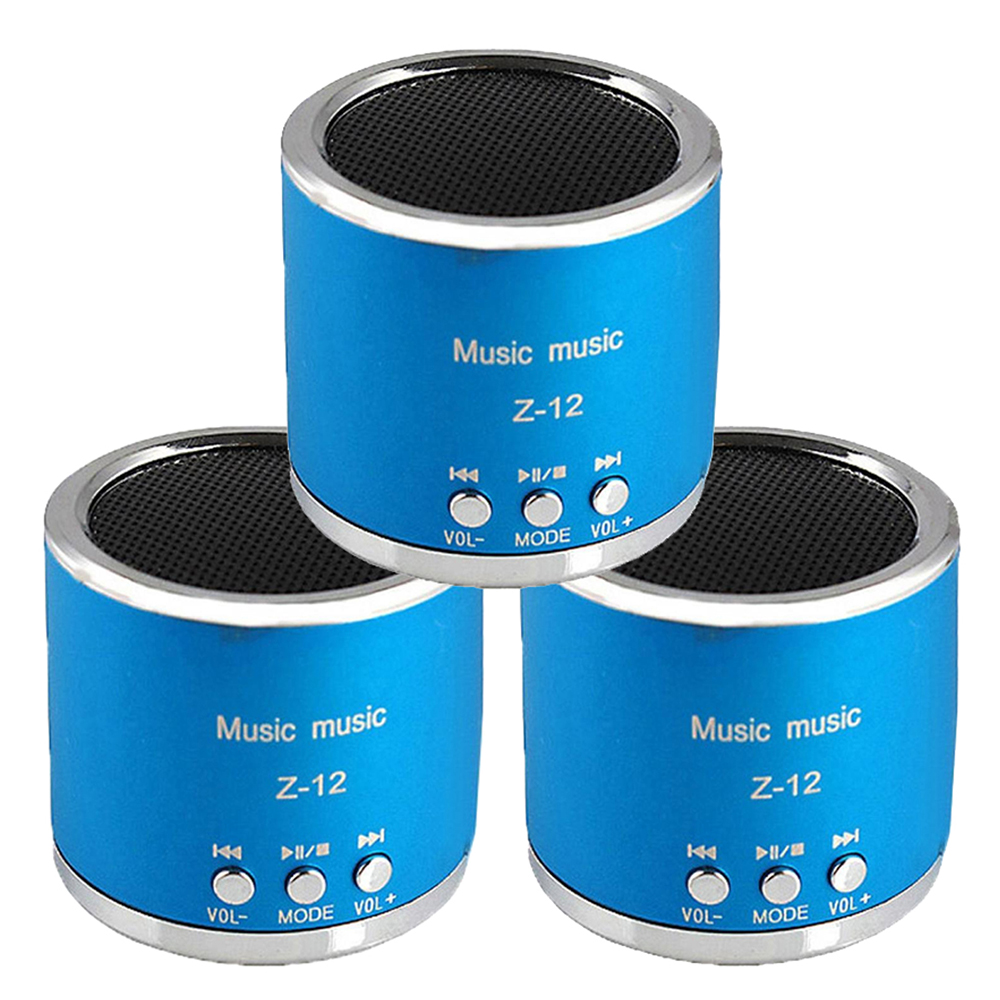 Mini FM Top Deals MP3 Player TF Card Music Loudspeakers Hand-free call For iPhone 6 Phone PC-30 (Blue/Red/Purple) image