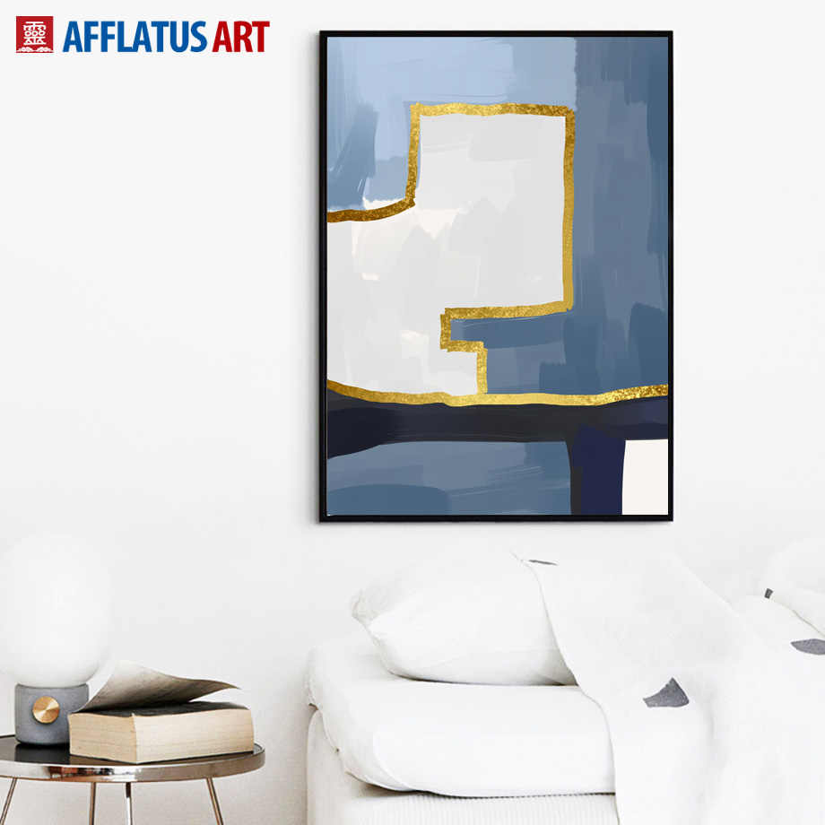 Mur Art toile peinture nordique affiches et impressions géométrie créative Art abstrait impression mur photos pour salon décor à la maison