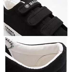 Image 4 - Mens Sneakers Canvas shoes for Boys Breathable Hook & loop Solid Brand Hard wearing Fashion Black/Blue/White Shoes Man