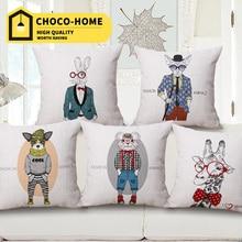 Original home cushion hold throw pillow cartoon fashion Mr animal sofa office home decorative pillow neck roll colors 45*45cm