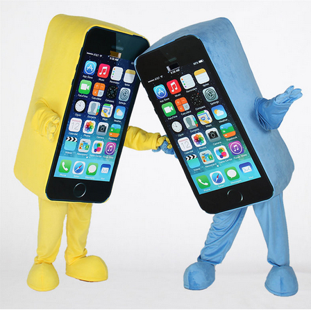 iphone costume. aliexpress.com : buy hot sale red mascot costume cell phone apple iphone 5c adult size ems free shipping from reliable suppliers on cartoon iphone