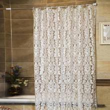 Mode 180*180 cm Épaississent PVC Imperméable Rideau De Douche Salle De Bains Rideau Avec Crochet