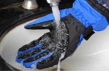 Бесплатная доставка Pro-байкер мотоцикл перчатки зимние тепловые водонепроницаемый холодной доказательство езды мотоцикл полный палец Лыжные перчатки