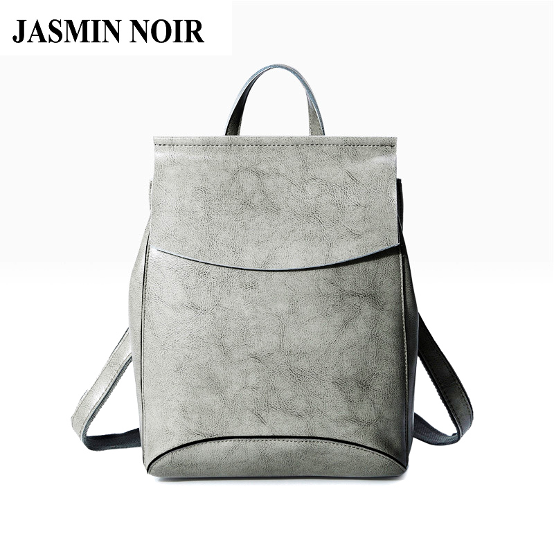 Fashion Women Genuine Leather Backpack Rucksack High Quality Casual Daypack Travel Bag Real Cow Designer Female Back School Bag