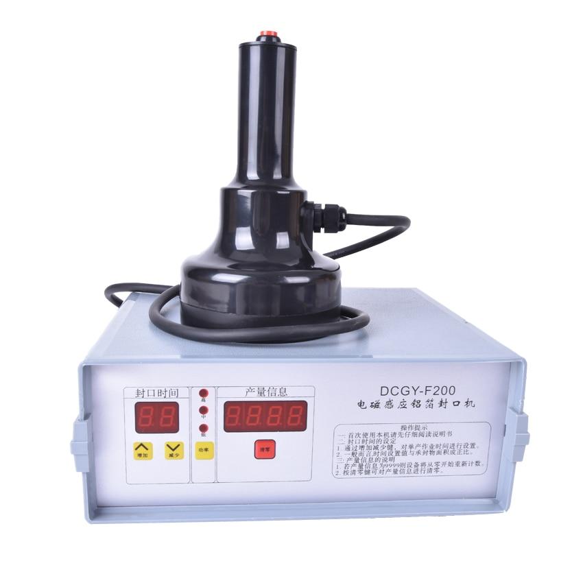 ФОТО 1PC New DCGY-F200 Portable induction sealing machine aluminum foil capper Honey Packaging Equipment (20mm-90mm)