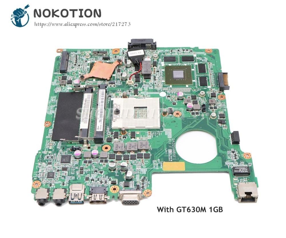 купить NOKOTION Laptop Motherboard For Acer aspire E1-471 E1-471G Main Board NBM1S11001 DAZQSAMB6F1 HM77 DDR3 GT630M 1GB недорого
