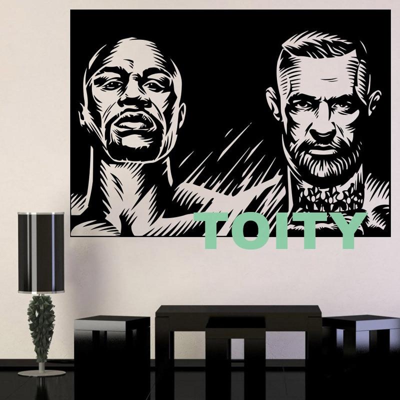 10 Dizayn Conor McGregor Divar Etiketli MMA Mübarizə Boks Vinil - Ev dekoru - Fotoqrafiya 5