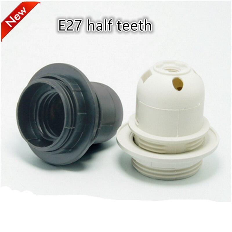 E27 LED plastová lampa držák 10ks / lot E27 Edison šroub žárovka objímka držák DIY E27 objímka základna doprava zdarma