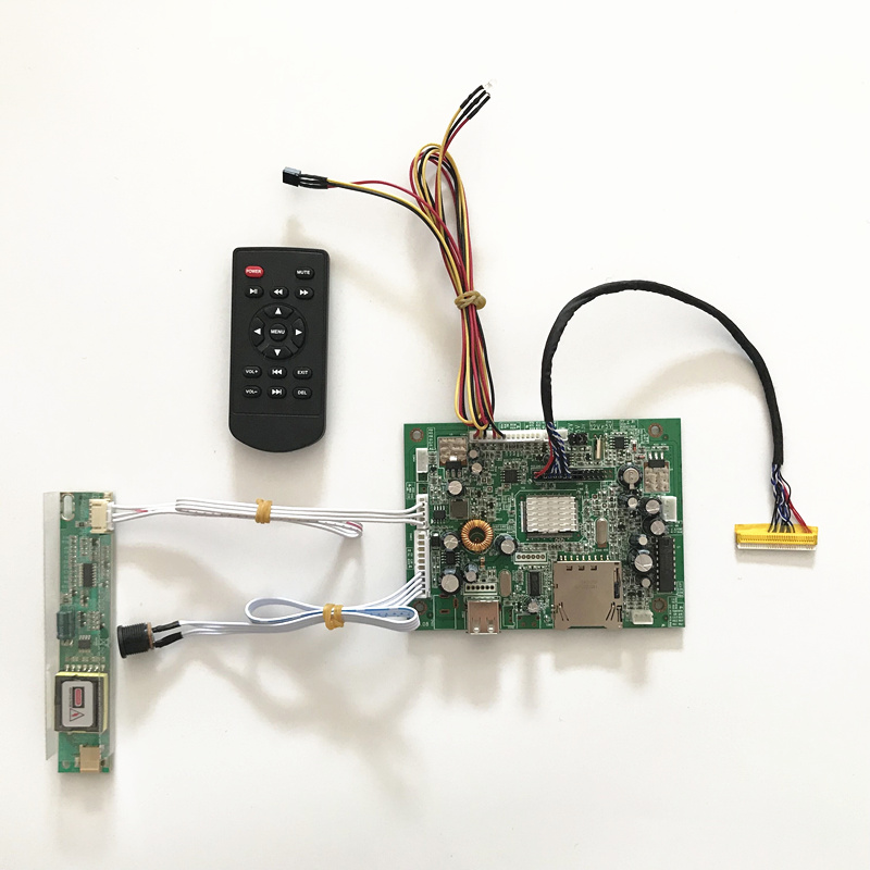 Universal  media player Board for LP154W01 Monitor Kit for lCD panel  Resolution 1280*800  with USB SD saq high voltage board w cable for tube of 10 22 lcd monitor green multicolored