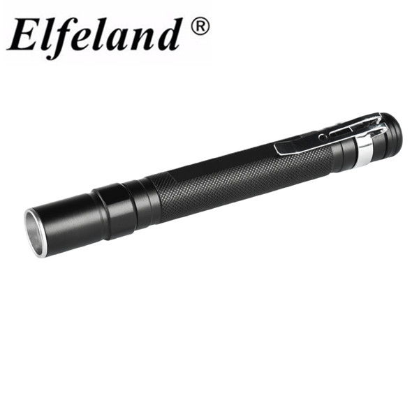Elfeland Aluminum Alloy Single file XPE 250LM Zoomable Adjustable Led light flashlight Torch By 2X AAA Batteries